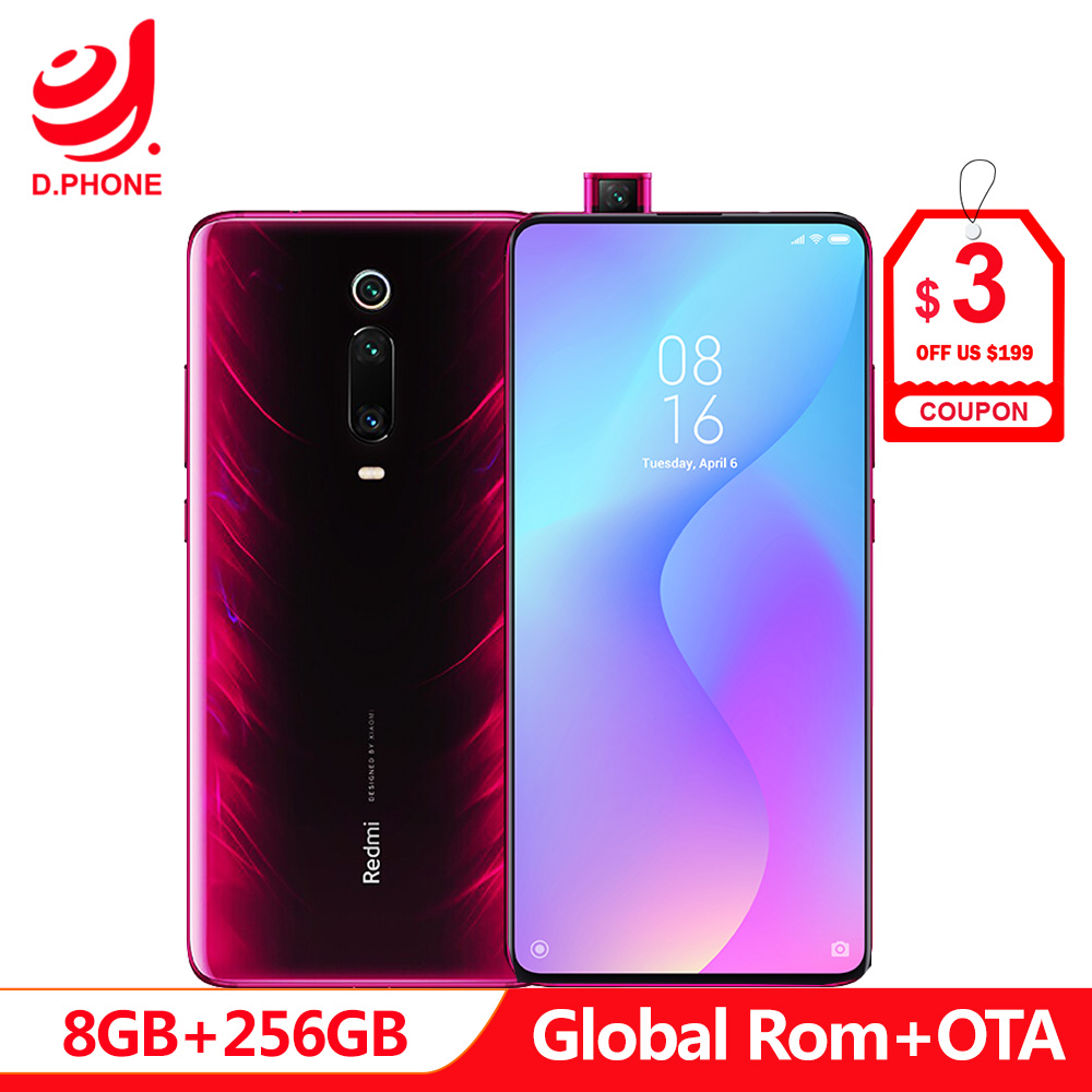 Global Rom Xiaomi Redmi K20 Pro 8 GB 256 GB Snapdragon 855 Octa Núcleo 4000 mAh Pop-up Front câmera 48MP Traseira Câmera do Smartphone