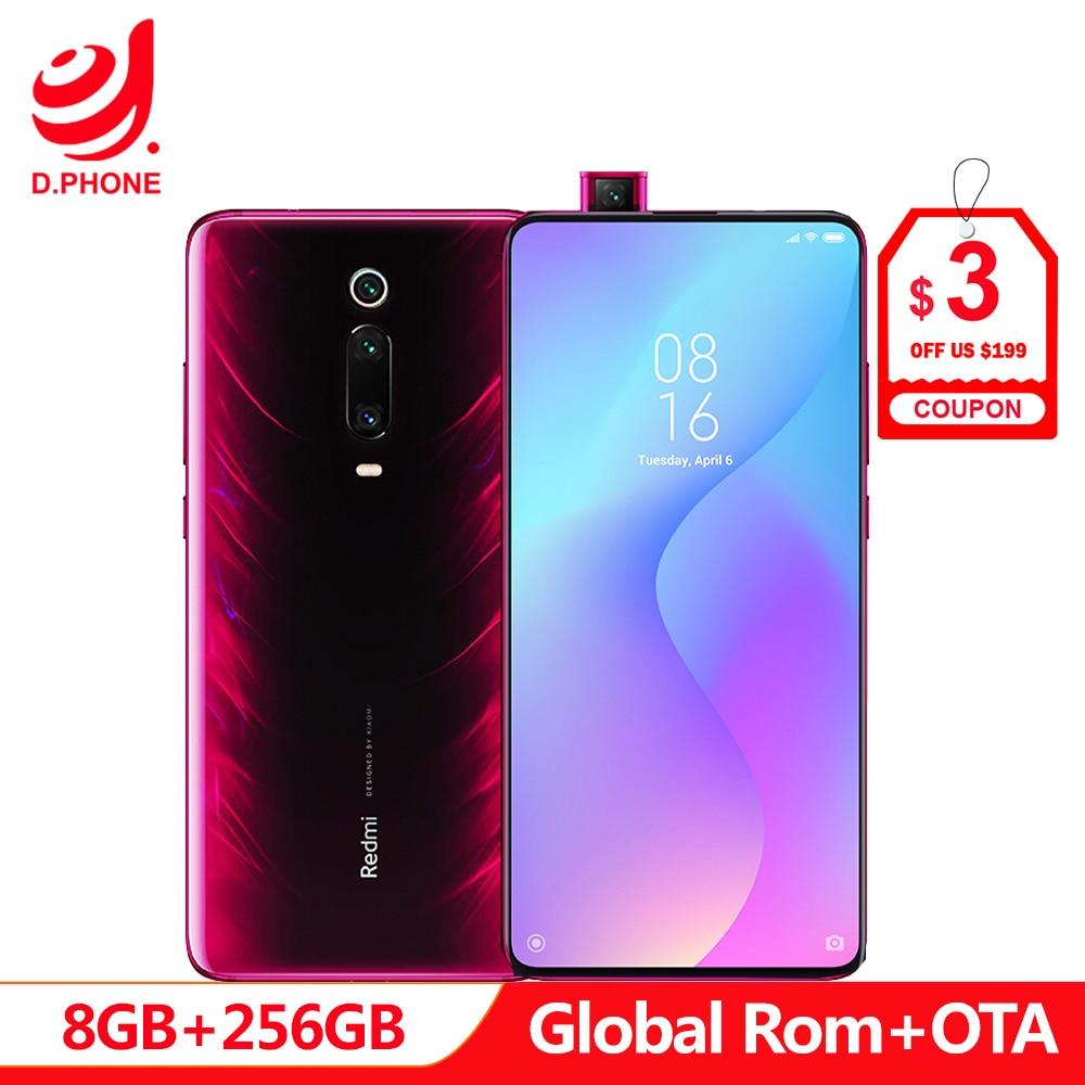 Globale Rom Xiaomi Redmi K20 Pro 8 GB 256 GB Snapdragon 855 Octa Core 4000 mAh Pop-up Anteriore macchina fotografica 48MP Posteriore Della Macchina Fotografica Per Smartphone