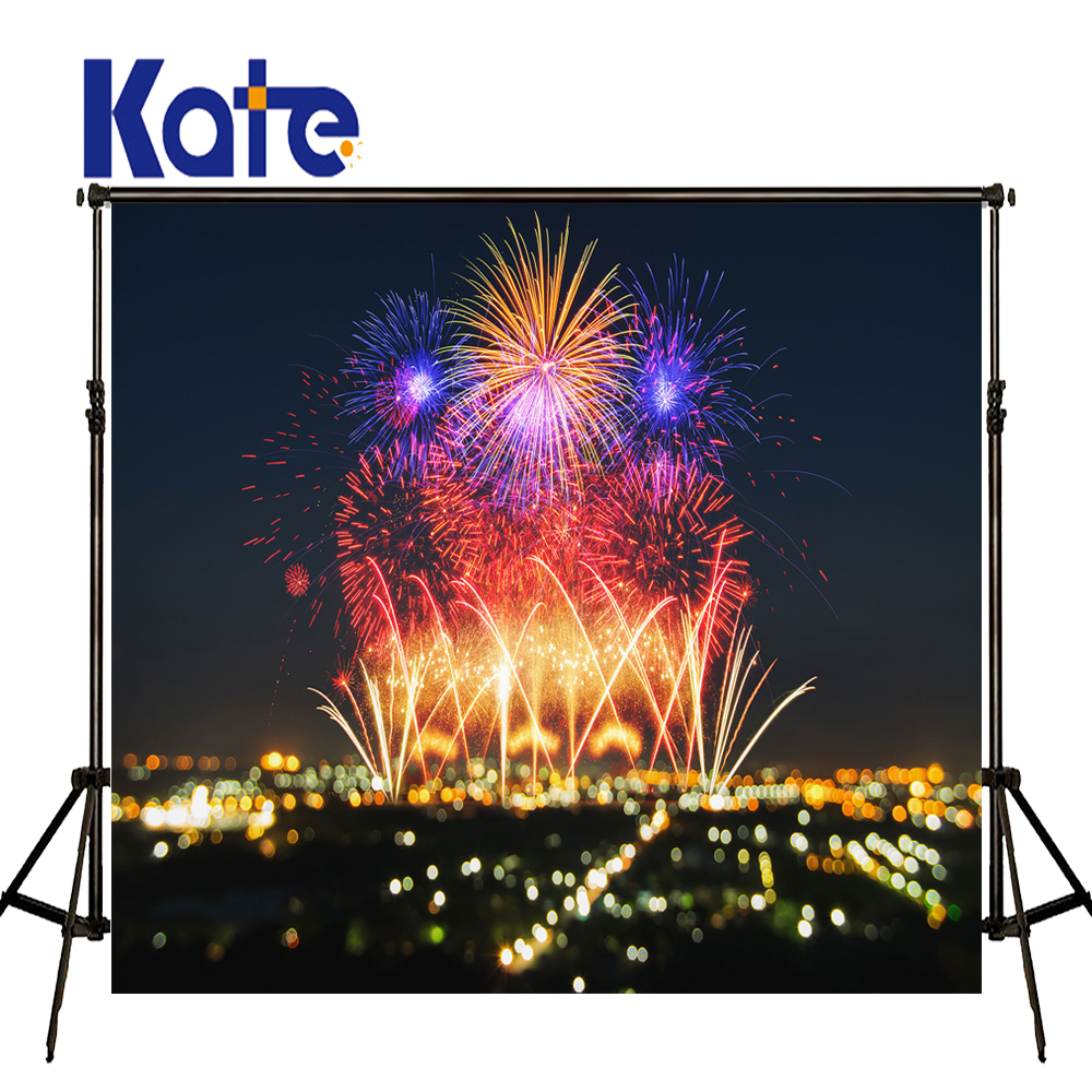 KATE Photo Background New Year Backdrop Firecracker Fireworks Children Backdrops Newborn Party Photo for Photocall Baby Birthday allenjoy backdrop spring background green grass light bokeh dots photocall kids baby for photo studio