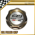 New Gold Engine Oil Filler Cap For Honda Mugen Anodized Aluminium Accord CR-Z JAZZ FIT Car Accessories