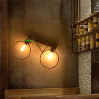 Loft vintage industrial Sconce Wall Lights bar cafe bicycle corridor Light aisle decorative lighting wrought iron Led wall lamp