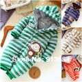 new 2016 autumn Winter romper baby clothing newborn baby boy striped cotton romper kids overalls baby wear