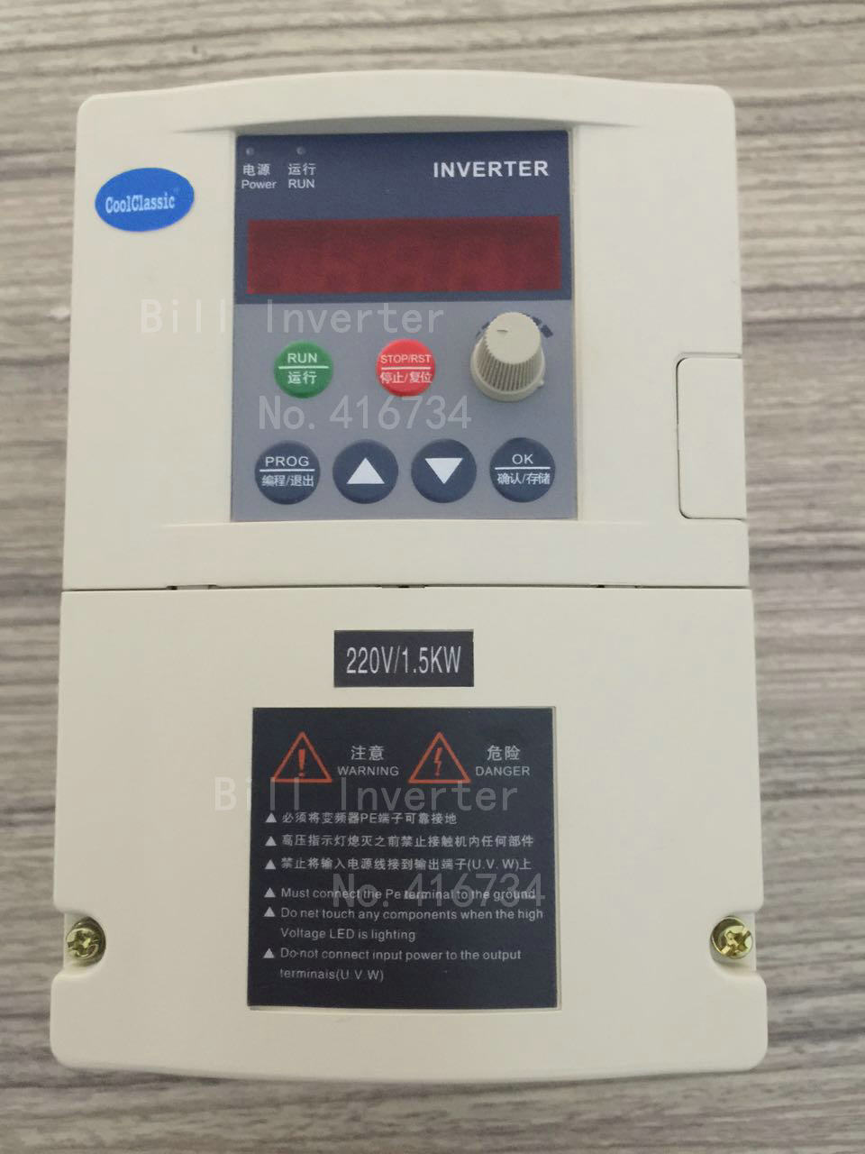 VFD Inverter  CoolClassic ZW-R278 Inverter  1500w Single phase 220v input three-phase motor with control line