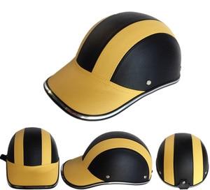 Image 4 - Unisex Motorcycle Half Face Helmet Bike Cycling Helmet casco Protective ABS Leather Baseball Cap gorras de beisbol