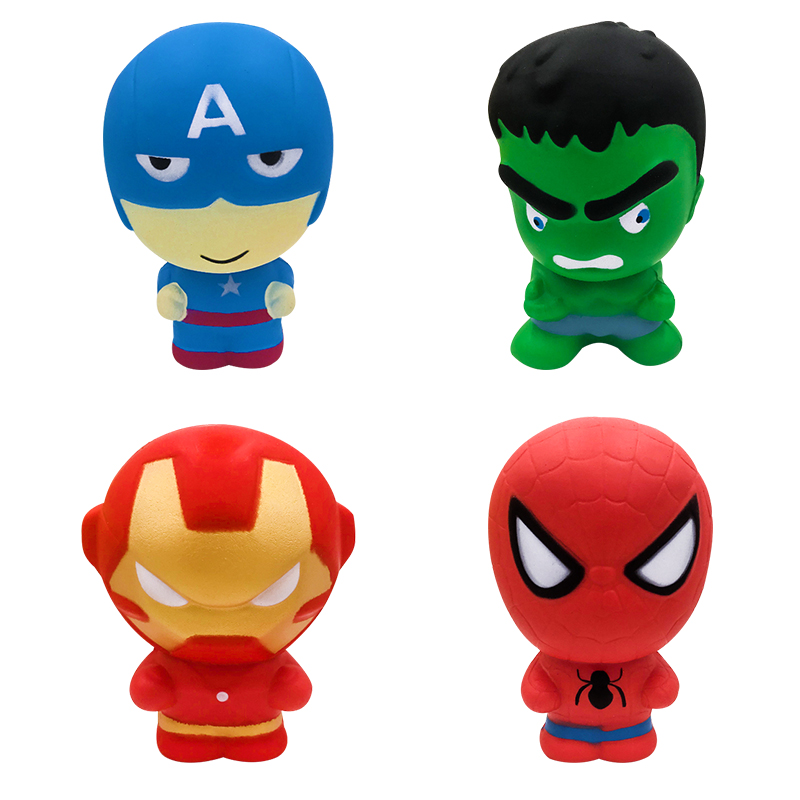2019 Super Hero Squishy Slow Rising Iron Man Spiderman Squishies Toy Jumbo Squeeze Stress Relief Toys For Kid