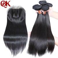 QueenKing, 3 пучка, уток, волосы с закрытием шнурка, 5X5, 3 части, шелковистые прямые бразильские Remy, человеческие волосы, Переплетенные, толстые вол