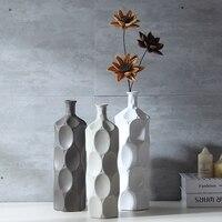 European ceramic dried flowers vase home decorations Dining table living room flower arrangement Fashion porcelain vase figurine