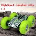 1:8 4CH carro de controle remoto de Alta-velocidade do carro anfíbio SUV pneu inflável brinquedos para crianças
