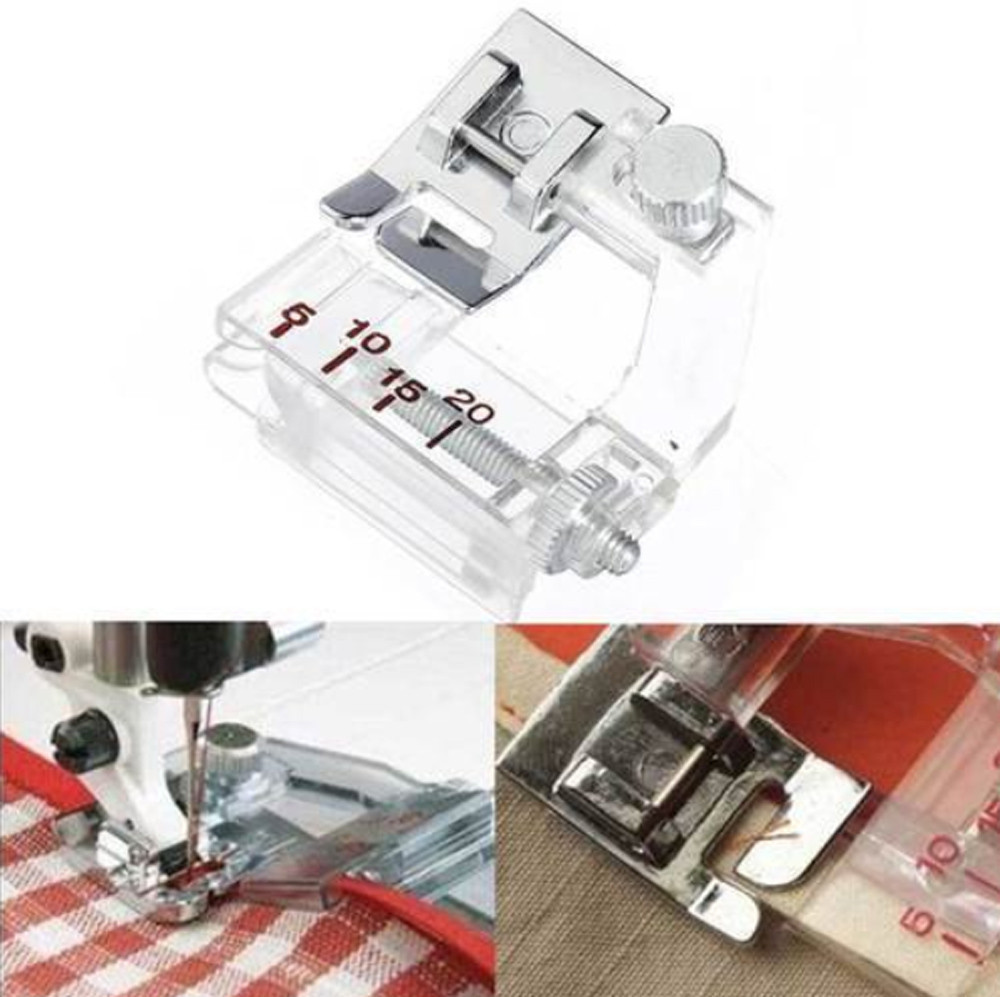Adjustable Bias Tape Binding Foot for Pfaff Kenmore Janome Brother High Shank