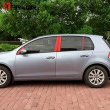 Autocollant de Protection en Fiber de carbone pour cadre de fenêtre de voiture, Film autocollant pour Volkswagen VW Golf 6 MK6 GTI, accessoires