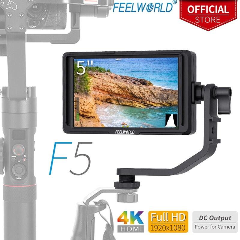 FEELWORLD F5 5 pouce Utra Mince IPS Plein Petit HD 1920x1080 Sur caméra Moniteur Vidéo pour Dslr Soutien 4 k HDMI Entrée et Sortie de la Boucle