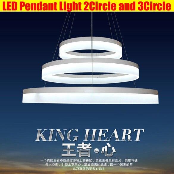 LED Pendelleuchte Moderne Acryl LED Ring Suspension Leuchte Kreis ...