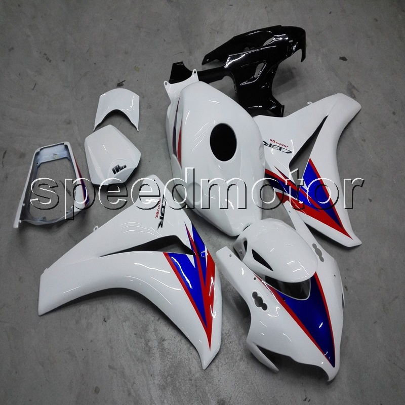 Custom+Screws+Injection mold white ABS cover for CBR1000RR 2008 2011 CBR 1000 RR 2008 2009 2010 2011 motorcycle Fairing