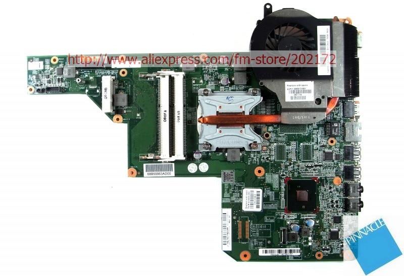 HP G62 G72 CQ62-001 605903-001 материнская плата для 597674 с радиатором вместо 597673-001 615849-001 совместимый и бесплатный процессор