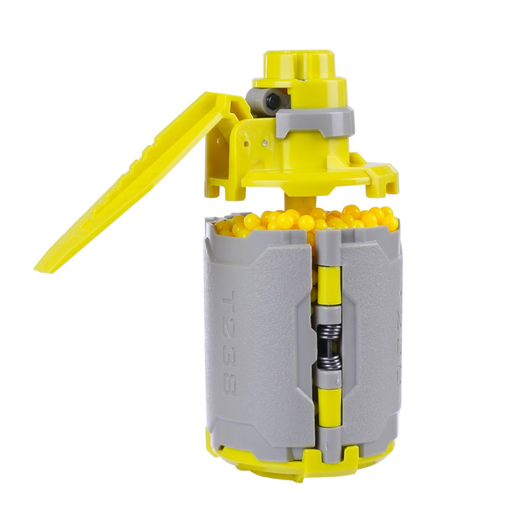 <font><b>T238</b></font> <font><b>V2</b></font> Large Ungrad Capacity Bomb Tactical Toy with Time-delayed Function for Nerf Gel Ball BBs Airsoft Wargame - Grey + Yellow image