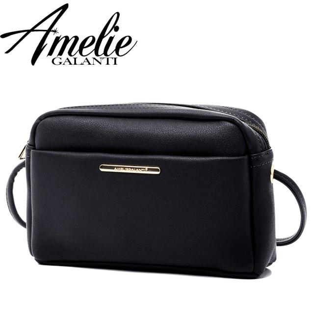 AMELIE GALANTI 2018 Crossbody мини сумки сотовый телефонные чехлы для женщин Повседневное Малый карамельный цвет молния сумка для обувь девоч