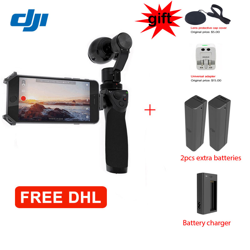 DHL EMS Free shipping ! DJI Osmo Handheld 4K Camera and 3-Axle Gimbal Phantom Free Gift Microphone