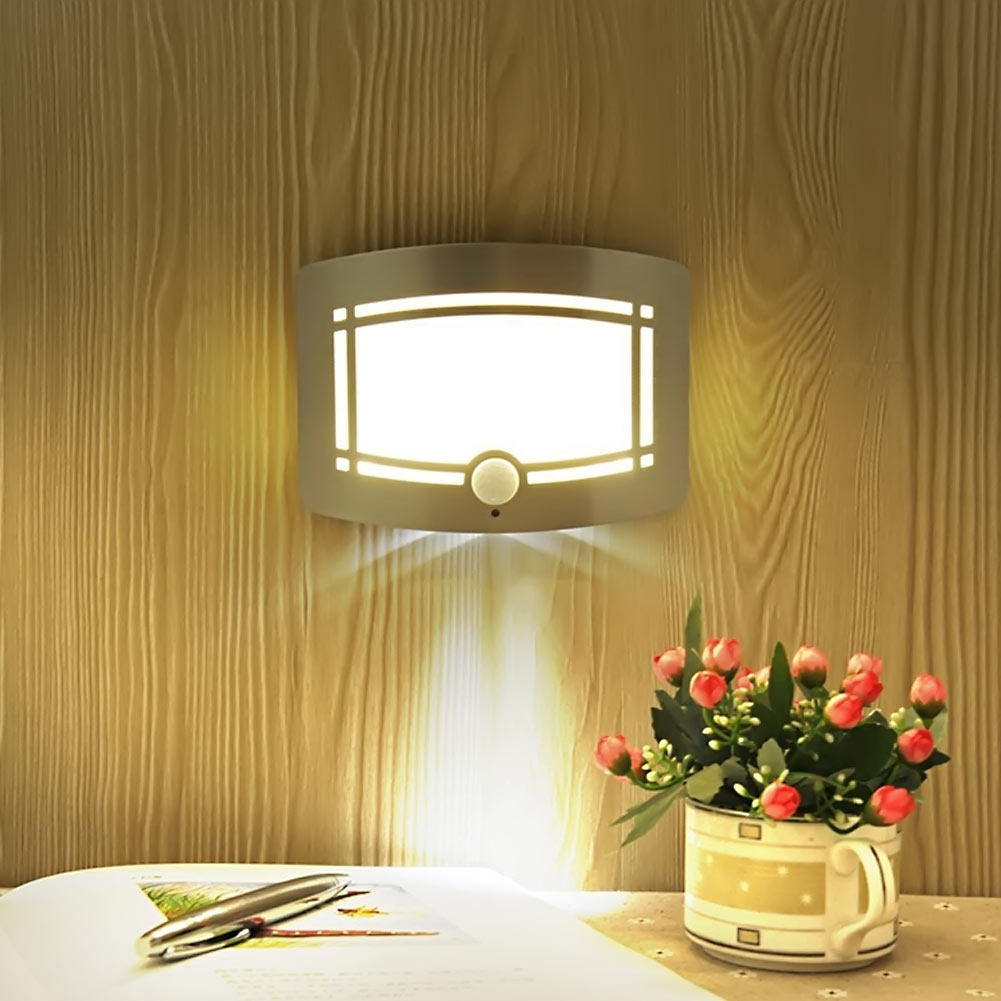 Wireless Infrared Motion Sensor Wall LED Night Light Novelty Battery ...