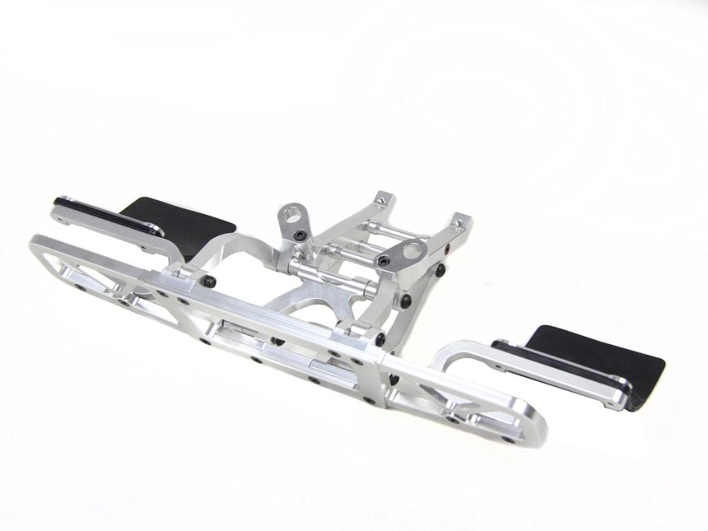 baja 5T 5SC sliver color alloy rear bumper set