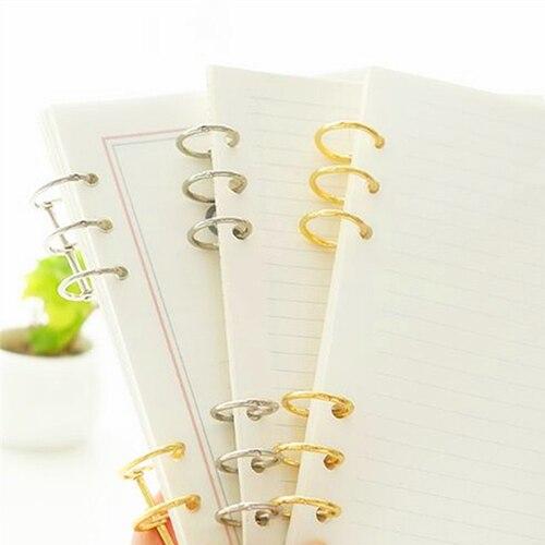 Office Binding Supplies 3-ring Gold Silver Loose-leaf Iron Split Hinged Rings Scrapbooking Binder Album Calendar Practical Notebook Loose Leaf Binder Office & School Supplies