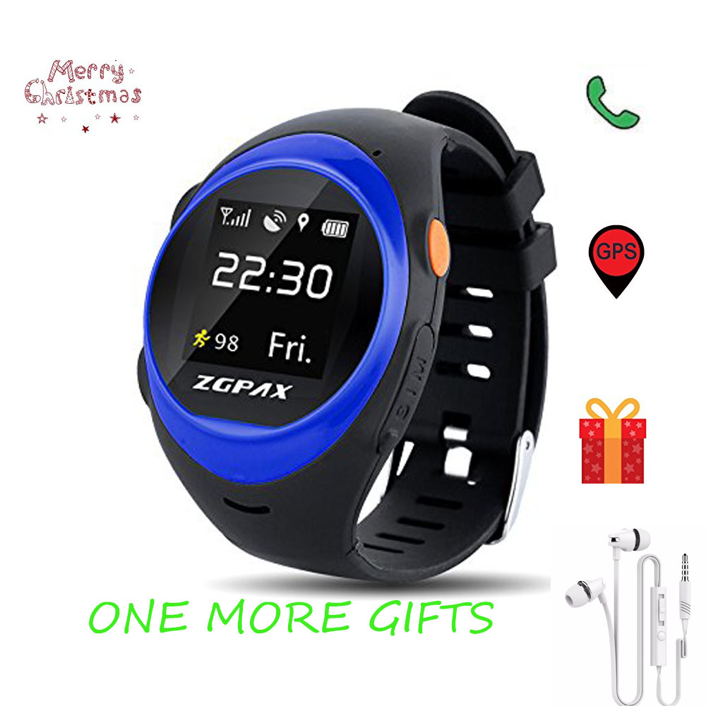 ZGPAX S888 WIFI Smart watch Children Elder SOS GPS Tracking Smartwatch Anti-lost Alarm iOS Android Phone For Elder Care Gift new a6 smart watch for kids children gift gps tracker with sos button alarm clock gsm phone anti lost for android ios phone