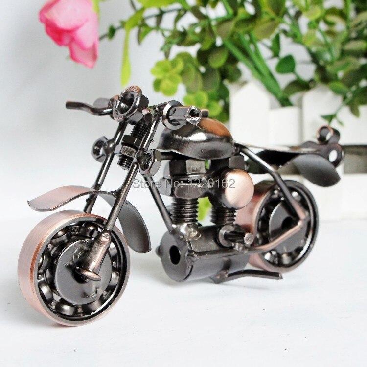 ucretsiz kargo yaratici metal el sanatlari el yapimi motosiklet modeli oyuncak moda bar ev dekorasyon promosyon hediye