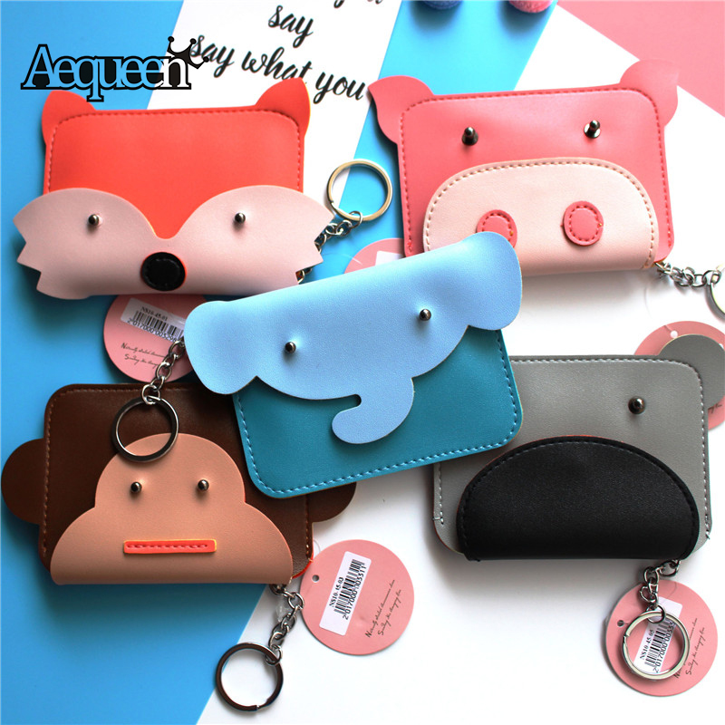 Luggage & Bags Coin Purses & Holders Dynamic Creative Cartoon Small Monkey Pu Leather Change Wallets With Key Chain Animal Prints Coin Purses For Kids Girls Women Cute Gifts