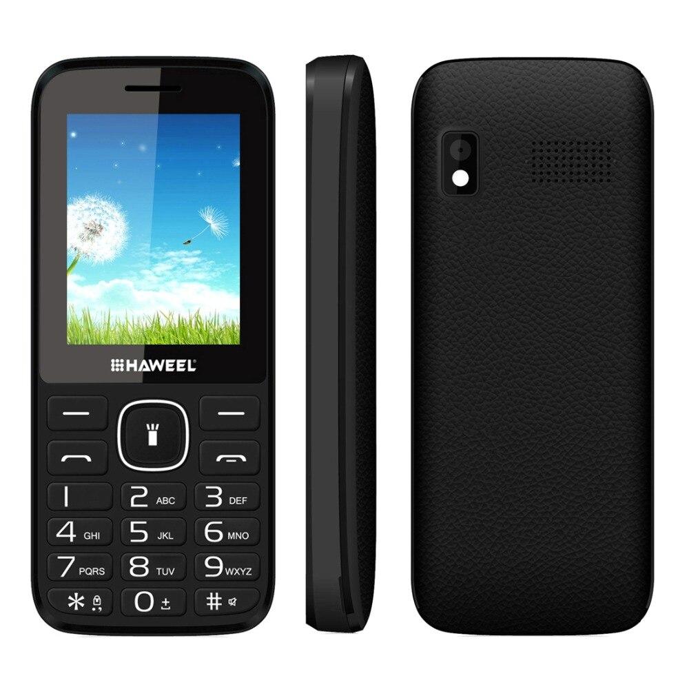 Haweel x1 teléfono móvil de 2.4 pulgadas del teléfono gsm dual sim grande altavo