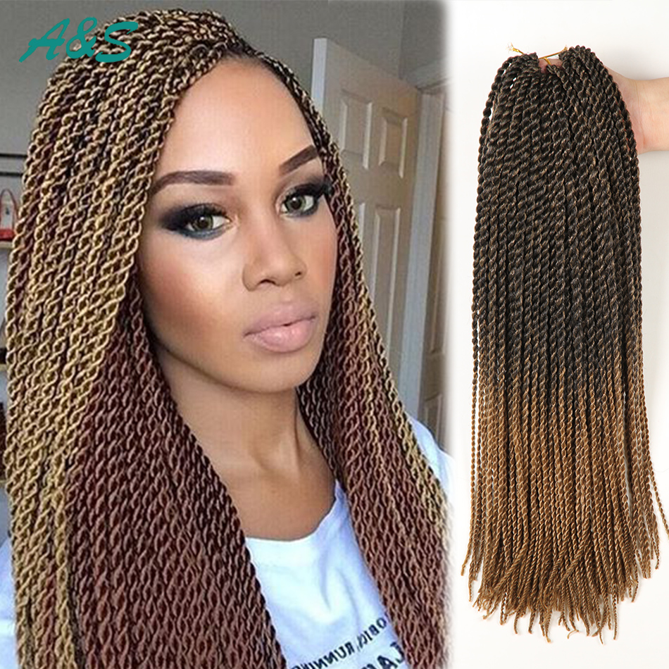 Sexy 11 colors crochet hair 18 inch thin senegalese twist ...