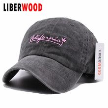 77fba044049 LIBERWOOD Fitted cap hat American California causal Baseball Cap coconut  palm embroidery Snapback Cap hat for