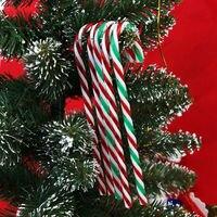 12pcs/bag 15cm Long Gisela Graham Christmas Acrylic Candy Cane Xmas Tree Ornaments Hanging Decoration
