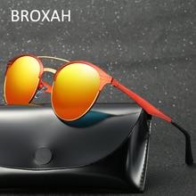 Круглые поляризованные солнцезащитные очки для мужчин и женщин качественные очки для вождения женские металлические Оттенки UV400 Lunette De Soleil Homme Femme