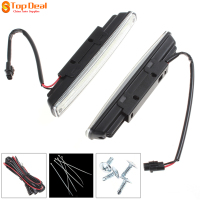 New 2pcs 18cm COB LED Super White Vehicle Car Daytime Running Light DRL Waterproof Warning Security