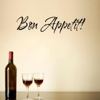 BON APPETIT Letter Vinyl Removble Wall Art Decals Home Decorations Living Room Decor Wall Stickers Kitchen