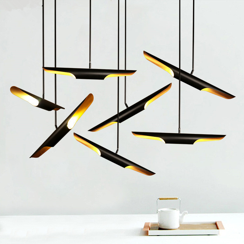 Modern creative living room hanging lights restaurant light simple lamps bedroom lamp Iron craft pendant lights AC100-240V chinese style classical wooden sheepskin pendant light living room lights bedroom lamp restaurant lamp restaurant lights