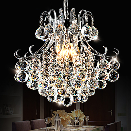 LED restaurant luxury European style living room lamp Shiyuan crystal Pendant Lights bar creative personality luxurious crystal pendant lamp the european style living room lamps and lanterns creative bedroom crystal chandelier