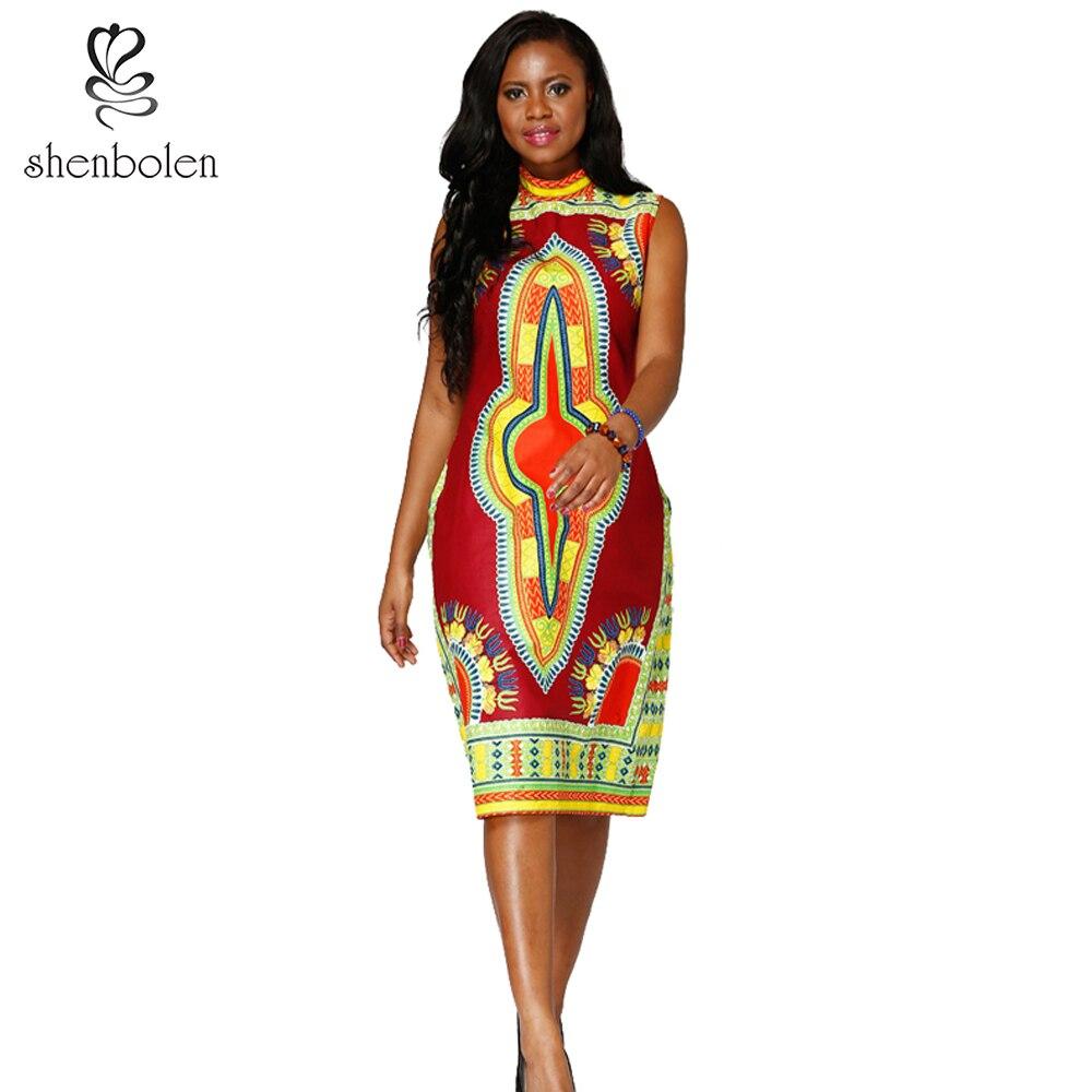 66bf94f65c5 Shenbolen African Dresses For Women Dashiki Fashion Clothing New designs  cotton print plus size