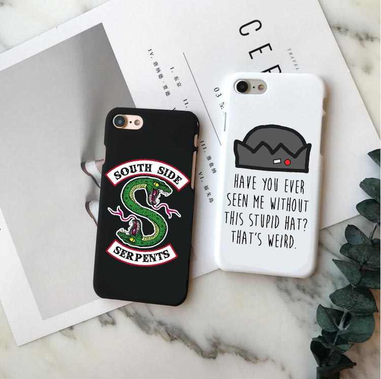 American TV Riverdale Jughead Jones Woz Here Hard PC Phone Case Cover For iPhone 5 5S SE 6 6S Plus 7 7Plus 8 8 Plus X XR XS MAX