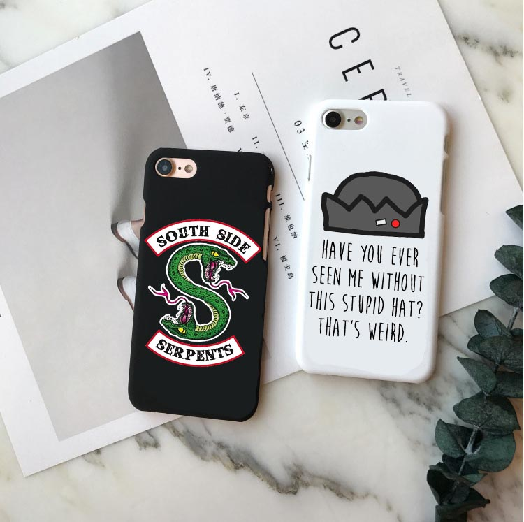 American TV <font><b>Riverdale</b></font> Jughead Jones Woz Here Hard PC Phone <font><b>Case</b></font> Cover For <font><b>iPhone</b></font> 5 5S SE <font><b>6</b></font> 6S Plus 7 7Plus 8 8 Plus X XR XS MAX image