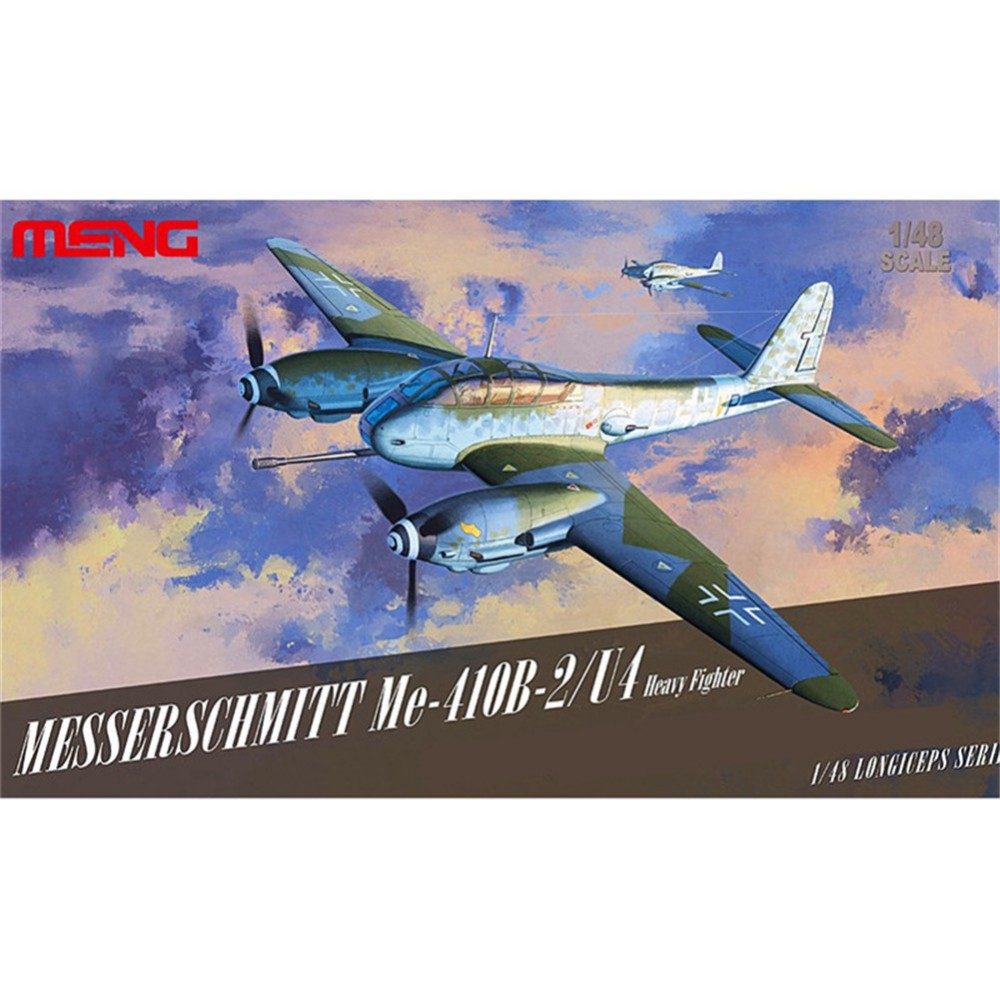 ФОТО OHS Meng LS001 1/48 Messerschmitt Me-410B-2/U4 German Heavy Fighter WWII Assembly Airforce Model Building Kits