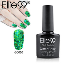 Elite99 10ml Nail Art Design Manicure Bling Glitter UV Gel Nail Polish Diamond Sequins Permanent Nail Primer Gel Varnishes