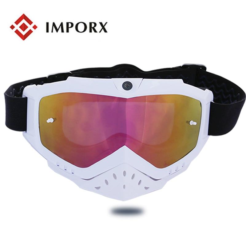 TPU Materiale del Telaio e motor croce goggle Uso motocross occhiali Da Sole Video Camera Recorder Sport Occhiali Da Sole Videocamera