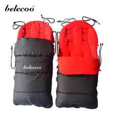Baby Toddler Windproof Hood Winter Foot muff Cosy Cotton Warm Sleeping Bag Thick Stroller Accessories(China)