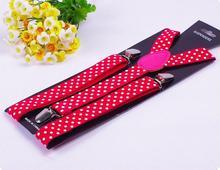 Men and women 2.5cm stamp Braces Clip adjustable strap Suspenders