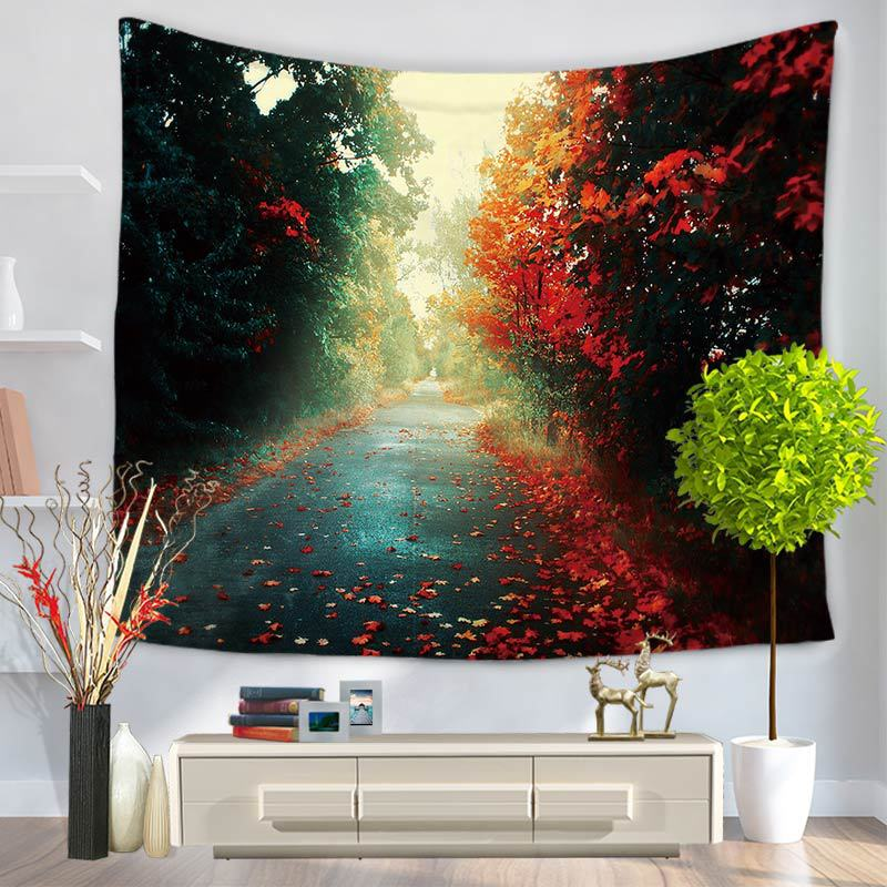 Autumn Defoliation Tapestry Tree Cloth Tapestries Hangings