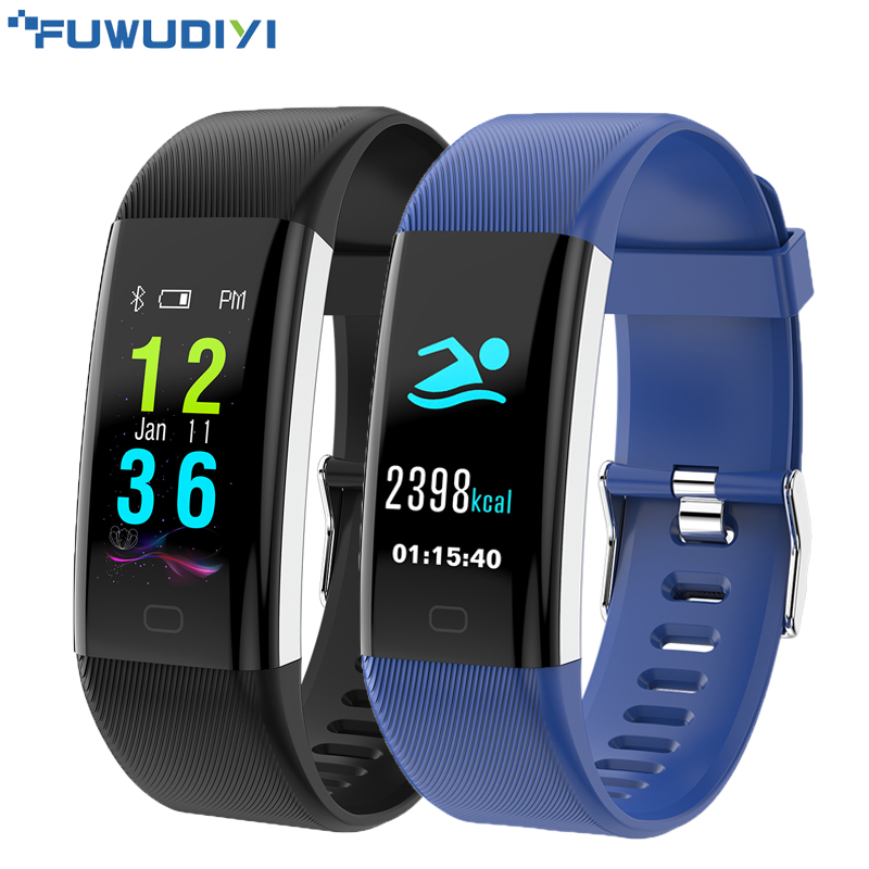 FUWUDIYI F07 Plus Smart Band Color Screen IP68 Waterproof Heart Rate Fitness Bracelet Blood Pressure Oxygen Monitor Smartband