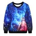 Adogirl outono inverno hoodies 3d galaxy espaço de impressão do punk da forma das mulheres em torno do pescoço pulôver camisola dos homens das mulheres de 10 modelos