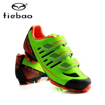 SPD велосипедные ботинки | Tiebao, профессиональные горные велосипедные кроссовки, обувь для велоспорта, Spd педали, гоночная спортивная обувь, дышащая, MTB, самоблокирующа...