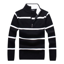 RICHARDROGER  High Quality Autumn Cashmere Wool Sweaters Men Famous Brand Clothing 087