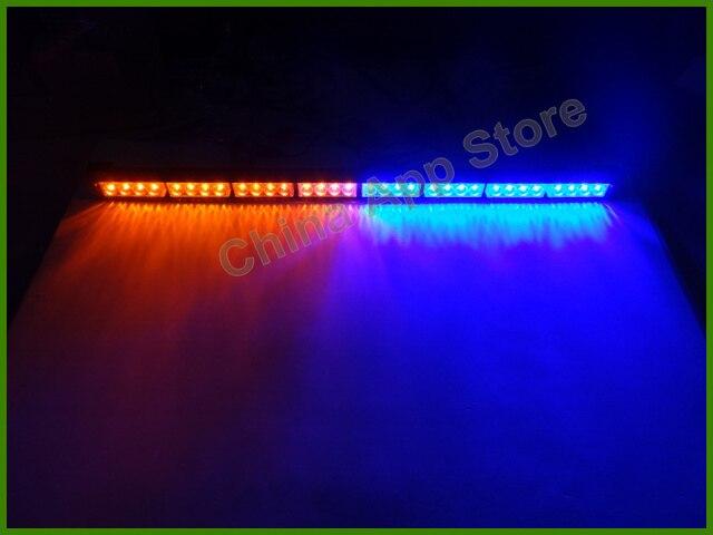 Free DHL Ship 35.4 Inch 32W 32 LED Strobe Warning Light Beacon Emergency Police  Lights 32